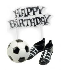 Football Boots and Football Topper with Happy Birthday Motto